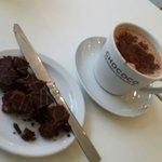 Ginger biscuit cake and perfect hot chocolate.