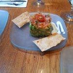 Avocado tartar with salmon