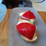 goats cheese and red pepper