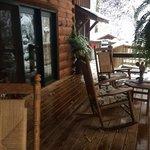 Front porch at Lazy Bear