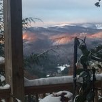 The view early morning from deck off of Black Bear suite