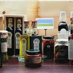 Oils and vinegars to choose from.