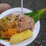 Rice &  beans con pescado