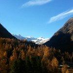 Sicht vom Zimmer 51 ins Val Roseg