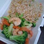 Shrip & Broccoli with Fried Rice
