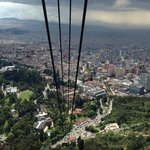 view from cable car to Monserrate