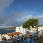 Rainbow from the terrace