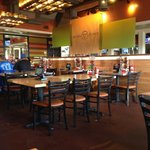 Dining area inside Chili's in Shawnee, OK.