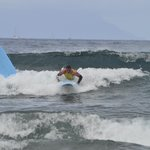 learning to surf and doing ok