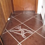 decorazione del pavimento della camera dove ho soggiornato