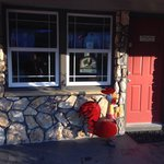 Outside of the Rooster Dining Room.
