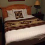 Comfortable bed with a true Pendleton touch.
