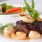 Surf and Turf, one of our most popular dishes