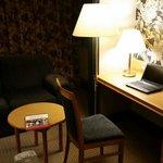 Dim lighting and a portable radiator