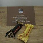 Swiss chocolate at turndown