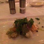 salad with heirloom tomatoes and fresh mozarella