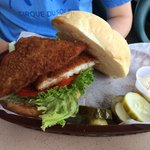 Fresh fish sandwich