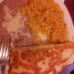Chicken Quesidilla with rice & beans (lunch Special # 7)