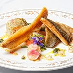 Harrietville trout, wild hazelnuts and lime