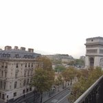 From balcony: View of street and Arc de Triomphe