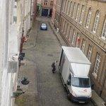 Rue vue de la fenêtre