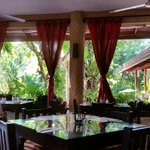 Open air dining area