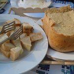 Sampling local pecorino cheeses after an olive oil tour