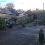 Cottages - Far part of building is Woodpecker (ground floor) and Red Kite (upper floor - but acc
