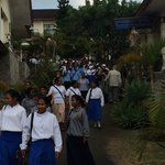 School's out at the convent school