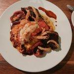 Aragosta, risotto e carne