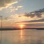 Short stroll to boardwalk at sunset