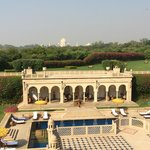 Blick vom Hotel Oberoi Richtung Taj Mahal