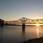 Beautiful Sunset from the Deck of Buckheads in Jeffersonville