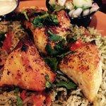 Chicken kabob, so delicious.