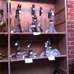Zebra carvings