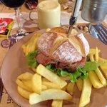 Panino con hamburger di chianina