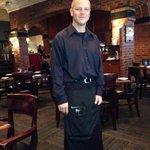 Our waiter Daniel