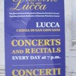 Panneau du concert
