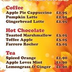 Come warm up! New Autumn drinks specials.