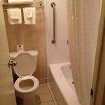 Cramped tiny bathroom