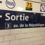Take this metro exit from the republique stop.
