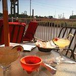 Drinks overlooking the bayou