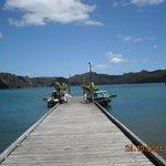 The jetty at Kingfish Lodge