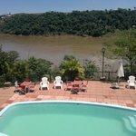 Río Paraná desde terraza cabaña Anchico