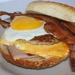 Egg A Bagel Pile Up