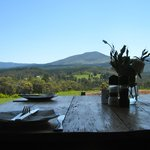 Table with a view over the Outeniqua mountains