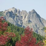 View of Castle Crags from Railroad Park, Dunsmuir