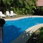 vista de la pequeña piscina