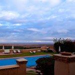 view from breakfast terrace/lounge area