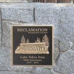 Tahoe Dam 100 Year Plaque, Tahoe City, Ca